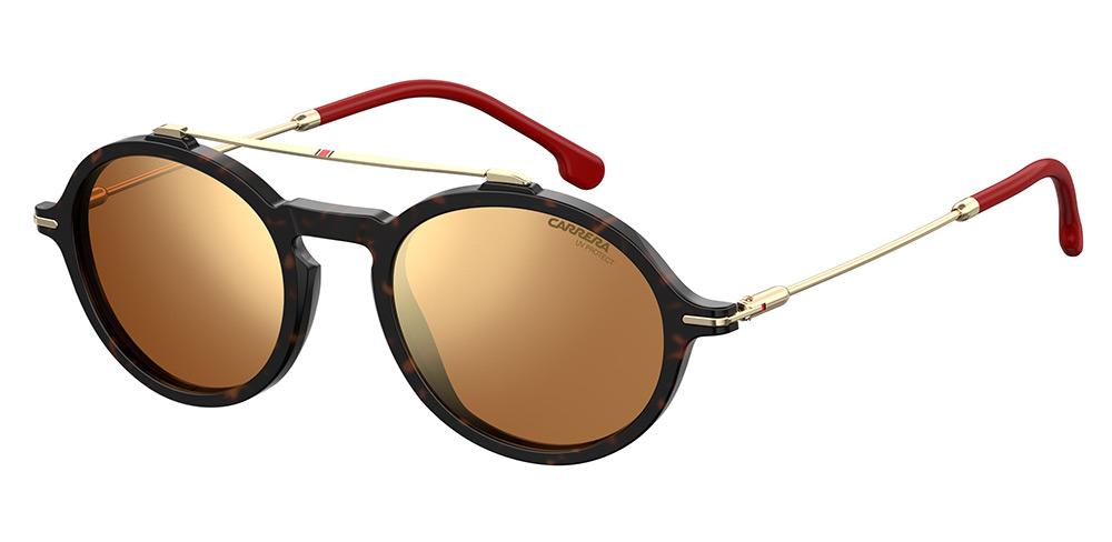 Τα γυαλιά ηλίου CARRERA 186 S διατίθενται σε χρυσό με χρυσούς-μπρονζέ  καθρεπτέ φακούς 82887e4ced2