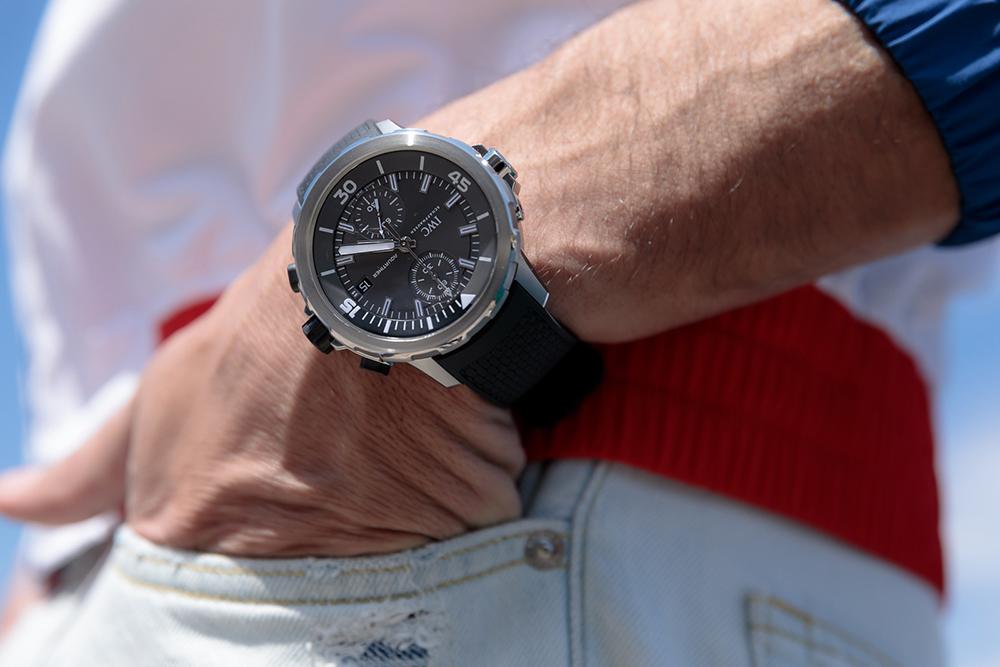 "0a1e715bc229 Ρολόι από την IWC Aquatimer Chronograph Edition ""Sharks"""